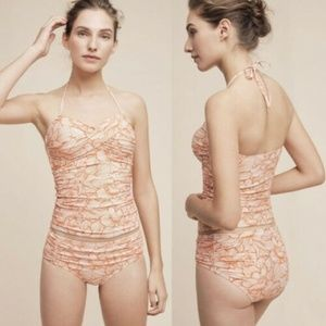 Anthropologie 2-PC Twist Front Tankini & Bikini
